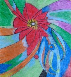 Use of oil pastels by me ❤️💕