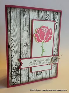 Simple Stems with a Hardwood Background - Stampin' Up