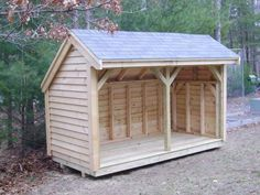 = Make Your Own: Firewood Shed = Keep your wood piles dry and safe. This free plan includes a supplies list and handy diagrams to guide you through the process. #firewoodsheed #firewoodpile #woodstorage #diyyard