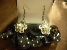 "Earrings: ""Flor de Lace"""
