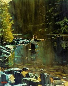 "Saatchi Art Artist todd doney; Painting, ""Fly Fishing"" #art"