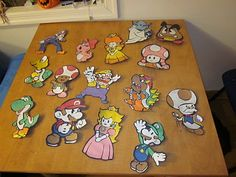 Super Mario Brother Door Decs! I think I may do this idea instead of making my own