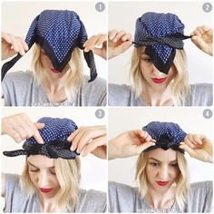 hair scarf tutorial