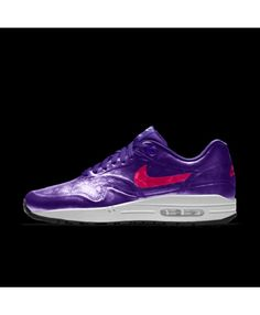 pretty nice b97c4 d405c Nike Air Max 1 Hyp Id Court Purple Vivid Pink White Womens Shoes Outlet