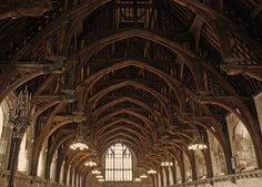 The hammerbeam roof at Westminster Hall (1399)