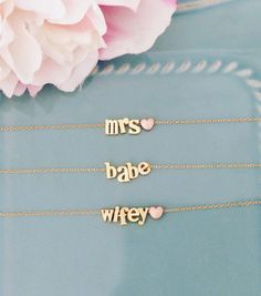 Personalized Gift name necklace Gold Necklace by AvaHopeDesigns
