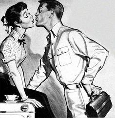 Dark Roasted Blend: Love & Romance (Vintage and Funny Pics) Vintage Romance, Vintage Love, Vintage Ads, Vintage Images, Vintage Style, Vintage Housewife, Vintage Couples, Illustrators, Illustration Art