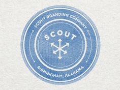 Scout Branding Co Stamp by Jeremy Mitchell - (dangerously close to Greendale Community College logo)