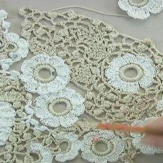 Step by Step Crochet Beauty pattern Step By Step Crochet, Irish Lace, Irish Crochet, Simple Designs, Needlework, Crochet Earrings, Pattern, Beauty, Beautiful