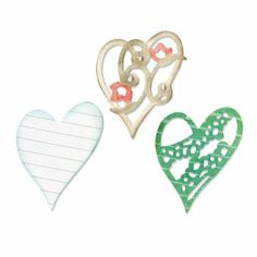 Sizzix Thinlits Stanzer Set 3 Stück - Layers of Love by Scrappy Cat