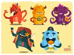 Skim Monsters, game, characters, monster, mobile, app