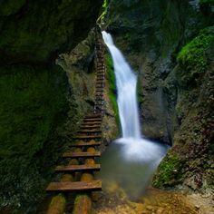 *-f* Veľký sokol - veľký vodopád /Slovenský Raj/ Slovak Language, Tatra Mountains, Beautiful Waterfalls, European Countries, Skiing, Castle, Around The Worlds, Landscape, Raj