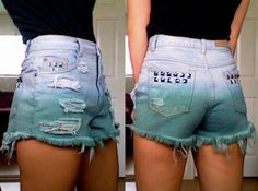 """A great tutorial on how to take #Goodwill """"Mom Jeans"""" into Trendy #High-Waisted Shorts (Step-by-Step)"""