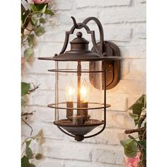 Inspired by rustic designs, this outdoor light adds a traditional look to your home.