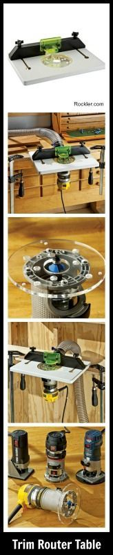 Trim Router Table. Rockler.com Woodworking Tools #woodworkingtools