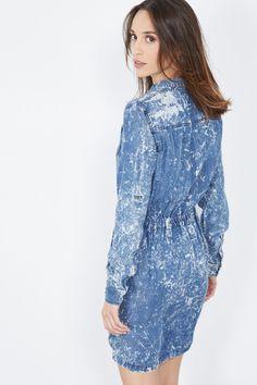 Venda Pepe Jeans / 28240 / Mulher / Vestidos e macacões / Vestido marmoreado Azul