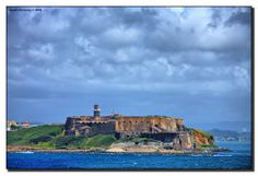 "El Morro - Altlanic view.  The following is a list of the remaining fortifications, most in good conditions as well as I've been able to identify: Castillo San Felipe del Morro –  Castillo San Cristóbal – Fortín San Jerónimo in San Juan – Fortín San Juan de la Cruz ""El Cañuelo"" – Cataño – Fortín Conde de Mirasol – Vieques (an offshore island) Fortín Capron – began by the Spanish, completed by the US and Fortin San Miguel Archangel – Arecibo (some remaining structure and walls)"
