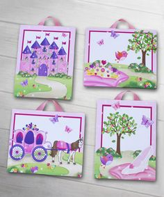 Love this 8'' x 10'' Princess Canvas - Set of Four by Toad and Lily on #zulily! #zulilyfinds