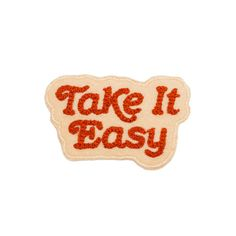 When you want nothing more than to spend leisure time daydreaming in the grass, reading a book or listening to your favorite songs, do it the easy way with our chain stitched patches. Ride slow, take it easy. Cute Patches, Pin And Patches, Sew On Patches, Iron On Patches, Stitch Patch, Red Blush, Take It Easy, My Tumblr, Mellow Yellow