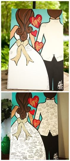 A great way to make your wedding unique and interesting is to have a great wedding guest book. Different traditional wedding guest book, a DIY wedding guest book will help make that special day more memorable and significant every time you think about it. Wedding Tips, Trendy Wedding, Unique Weddings, Dream Wedding, Wedding Day, Wedding Unique, Wedding Book, Wedding Ceremony, Wedding Bridesmaids