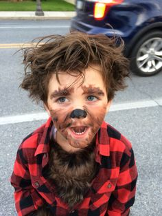 Werewolf makeup … More