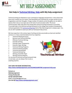 Technical writing homework help