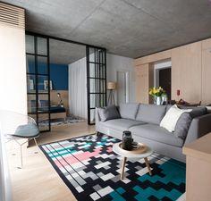 "Romanian designers champion ""clumsy, simple but honest"" furniture Modern Interior Design, Interior Styling, Interior Architecture, Interior And Exterior, Interior Doors, Interior Ideas, Apartment Interior, Apartment Design, Contemporary Rugs"