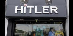 Hitler clothing store causes stir in India A clothing store called 'Hitler' has upset residents and the small Jewish community in Vastrapur, in Ahmedabad, India. The shop owners do not find the name. Ahmedabad, Mahatma Gandhi, Indiana, Name Change, Image Of The Day, Business Signs, Business Names, Weird Pictures, Decir No