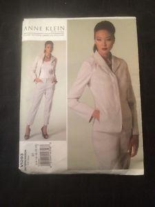 Vogue-Anne-Klein-New-York-Plus-Sz-14-16-18-20-22-Jacket-Pants-Pattern-1293-Uncut