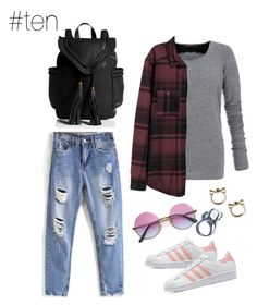 """""""Untitled #24"""" by hayescomet on Polyvore featuring dVb Victoria Beckham, H&M, adidas Originals and Kill Star"""