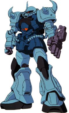 The MS-07B-3 Gouf Custom is an upgraded variant of the MS-07B Gouf that was introduced shortly after the MS-09 Dom. It first appeared in the anime Mobile Suit Gundam: The 08th MS Team.