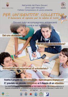 Piano Giovani Zona Laghi Valsugana: Si cercano 2 tutor fra i 19 ed i 29 anni per proge...