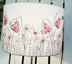 Beautiful freemotion sewn #lampshades by Picpacnaddywak