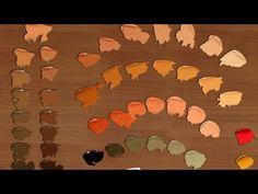 Cómo hacer color piel en diferentes tonalidades 1 Curso de pintura - YouTube