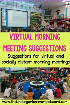 Virtual Morning Meeting Suggestions