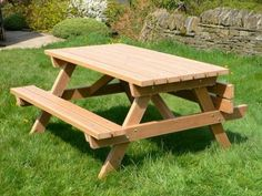easy building project for the patio.  a picnic bench