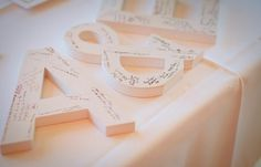 10 Best Wedding Guest Book Ideas for 2013  I have a box of records left over from your shower if you like that idea