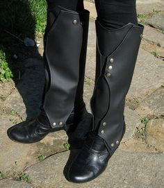 Loki Boot Covers  Faux Leather Gaiters  Boot Wraps by EldritchArts, $80.00