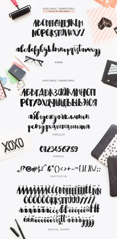 Shrewdy Hand Script: Handwritten script font alphabet. The font comes with upper and lowercase characters, includes basic punctuation and numbers, roman and cyrillic typeface and special glyphs, so the font can be used with most of the European languages.