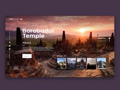 Indo Tourism - Travel App by Esa Adama on Dribbble Web Design Trends, Design Sites, Graphisches Design, Layout Design, Flat Design, Website Design Inspiration, Photo Editing Apps, Travel Website Design, Web Mobile