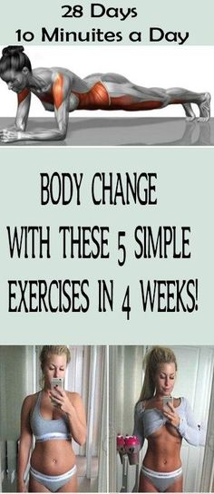 BODY CHANGE WITH THESE 5 SIMPLE EXERCISES IN 4 WEEKS! – Health and Fitness