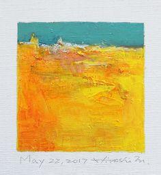 Mei 22 2017 origineel Abstract olieverfschilderij 9 x 9