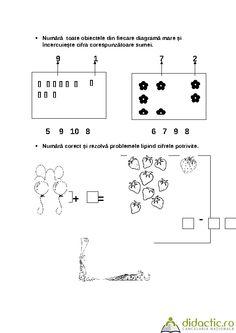 FISE CU CONTINUT MATEMATIC - GRUPA MARE | ileana61 | 14.10.2007 Math Equations