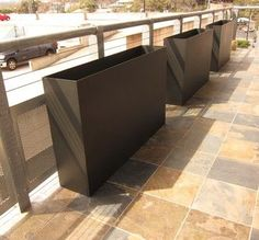 Tatami Plate Steel Planters modern outdoor planters
