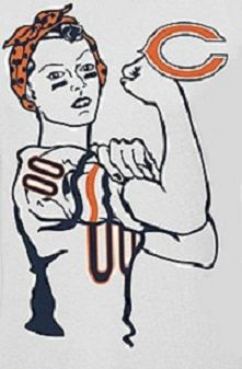 Chicago Bears! Yaay women love football too!!