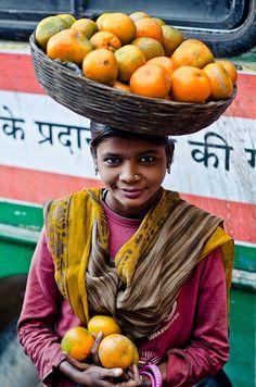 fruit seller, india