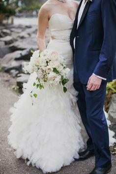 Lazaro ballgown...swoon! #dress | Photography: Christina Szczupak Photography - christinaszczupak.com  Read More: http://www.stylemepretty.com/tri-state-weddings/2014/04/29/organic-brooklyn-wedding/