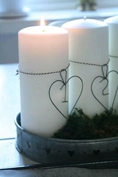 más y más manualidades: Bellas maneras para decorar velas