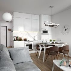 Дизайн квартиры в ЖК Самоцветы   Студия LESH