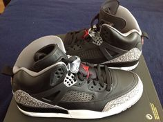 Nike Air Jordan Spizike Size 10.5 Shoes Black/Grey Cement 315371 034... | eBay Adidas Shoes, Sneakers Nike, Nike Free Runners, Teen Fashion, Fashion Models, Jordan Outfits, Victorias Secret Models, Nike Free Shoes, Milan Fashion Weeks